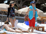 Paul McCartney and his wife Nancy Shevell hit the beach in Ibiza in June 2014.