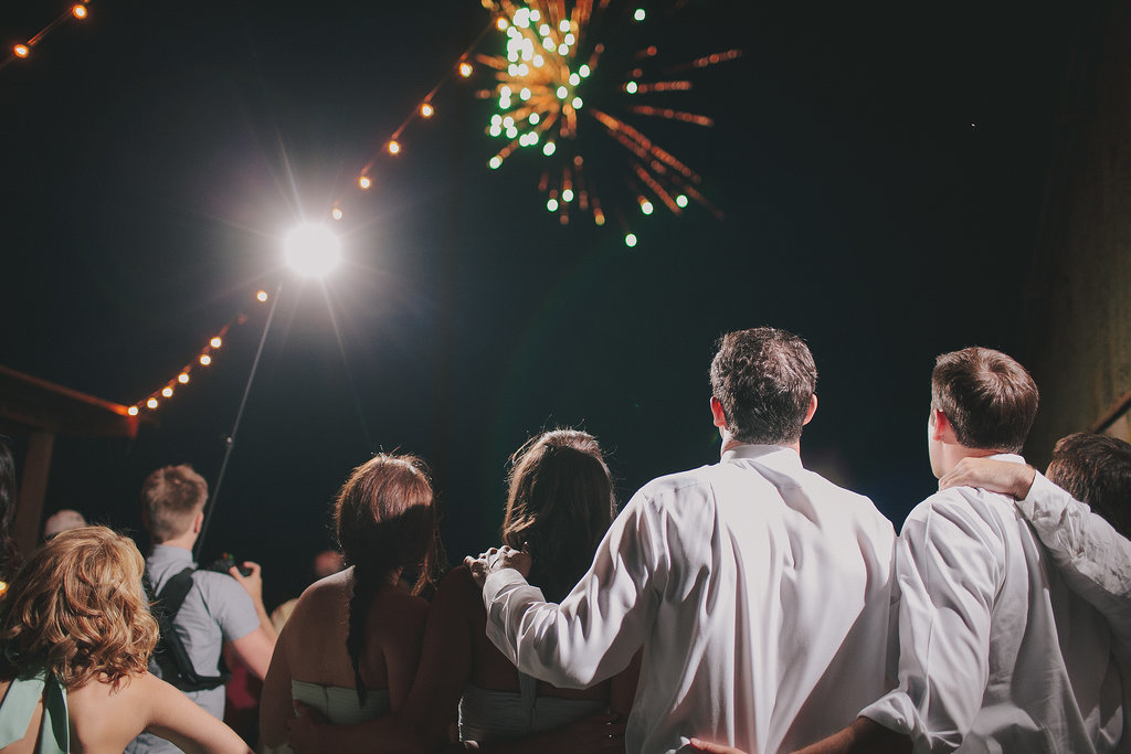 This Central California wedding ended with a bang! Photo by Jake and Necia
