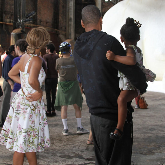 Beyonce and Blue Ivy Wearing the Same Dress in NYC