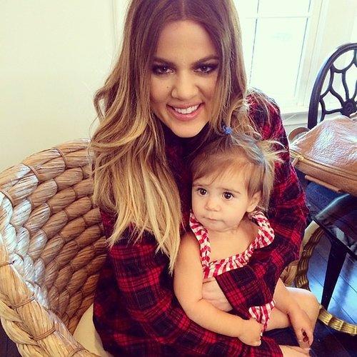 Birthday girl Khloé Kardashian got in an adorable squeeze with her niece Penelope. Source: Instagram user kourtneykardash