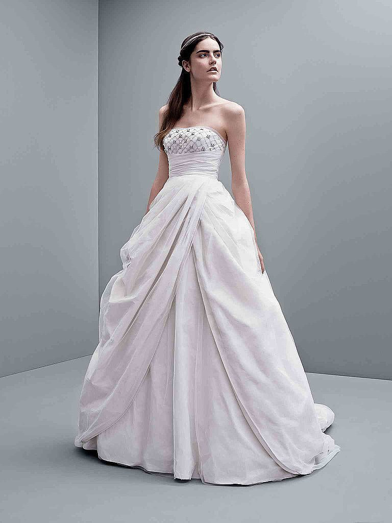 As any bride might already know, poring over gorgeous wedding dress photos on Pinterest is both awe-inspiring and heartbreaking — the dresses on your wedding boards might not actually be gowns within your budget. Full disclosure: these wedding dresses, courtesy of POPSUGAR Fashion, actually are, since they all hail from White by Vera Wang's Fall collection. Source: David's Bridal