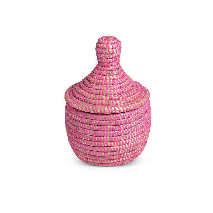 Corral bobby pins and hair ties with this adorable lidded basket ($19).