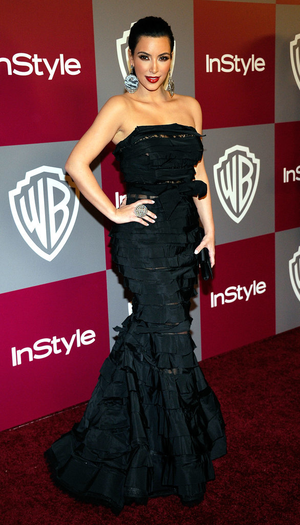 Kim Kardashian is clearly a fan of gothic mermaid gowns — and so are we! She stunned in this vampy Nina Ricci number at the 68th annual Golden Globe Awards in 2011.
