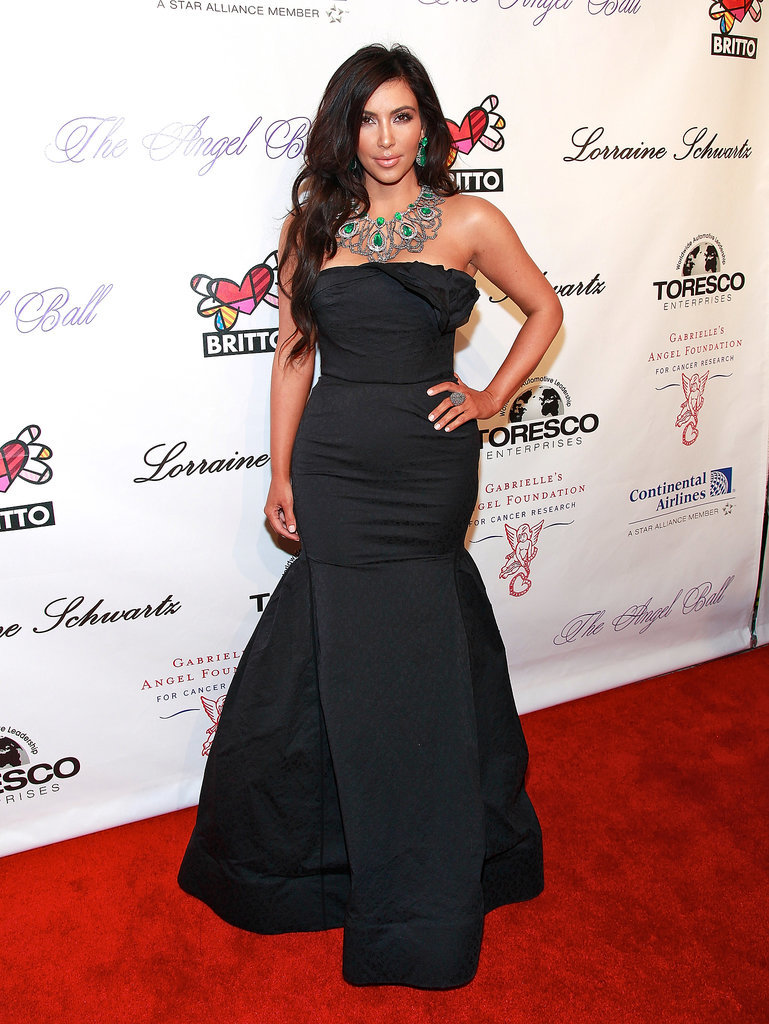 We love a vintage Kim Kardashian photo, don't you? She wore this striking black gown to the 2010 Angel Ball. Rather reminds us of one of our favourite Disney villains, who outrightly hated mermaids coincidentally, . . .