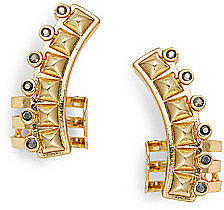 Curbs Studded Ear Cuffs