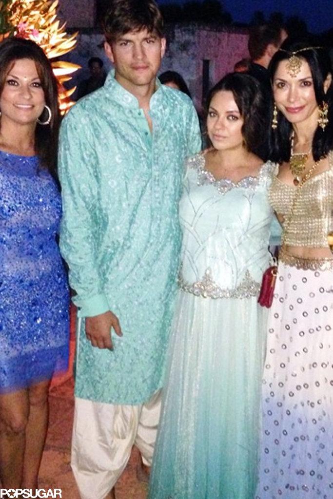 Ashton and mila wedding