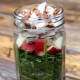 Grilled Beet and Chicken Spinach Salad in a Jar