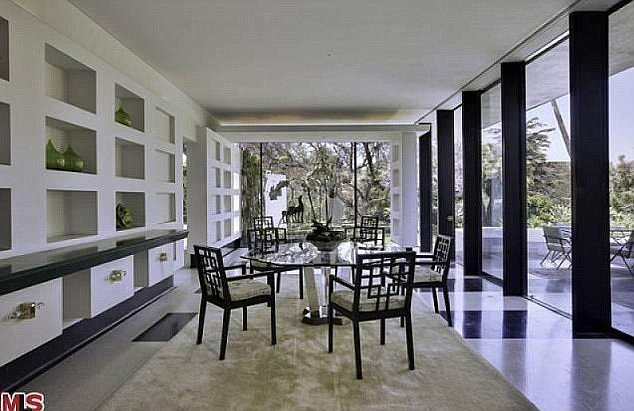 The dining room has ideal views of the property.  Source: MLS
