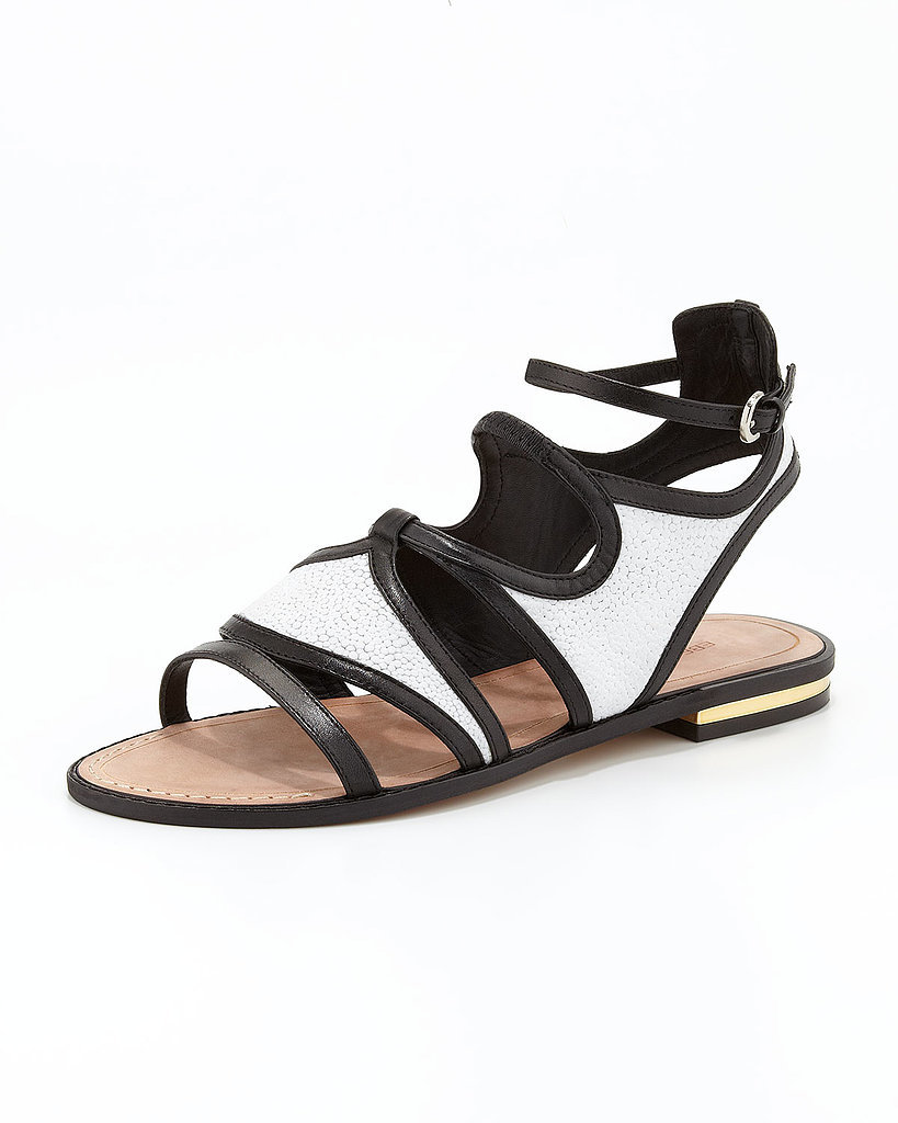 Rebecca Minkoff Stingray-Embossed Sandals ($225)