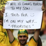 World Cup Fans at Brazil vs. Germany Match | Pictures