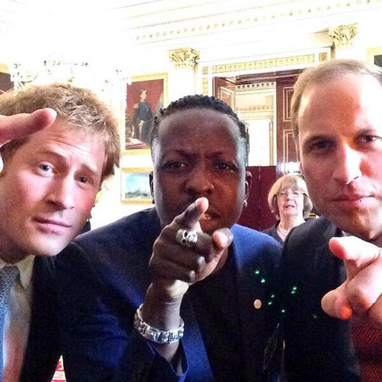 Prince William Prince Harry Taking Selfies In Google Hangout