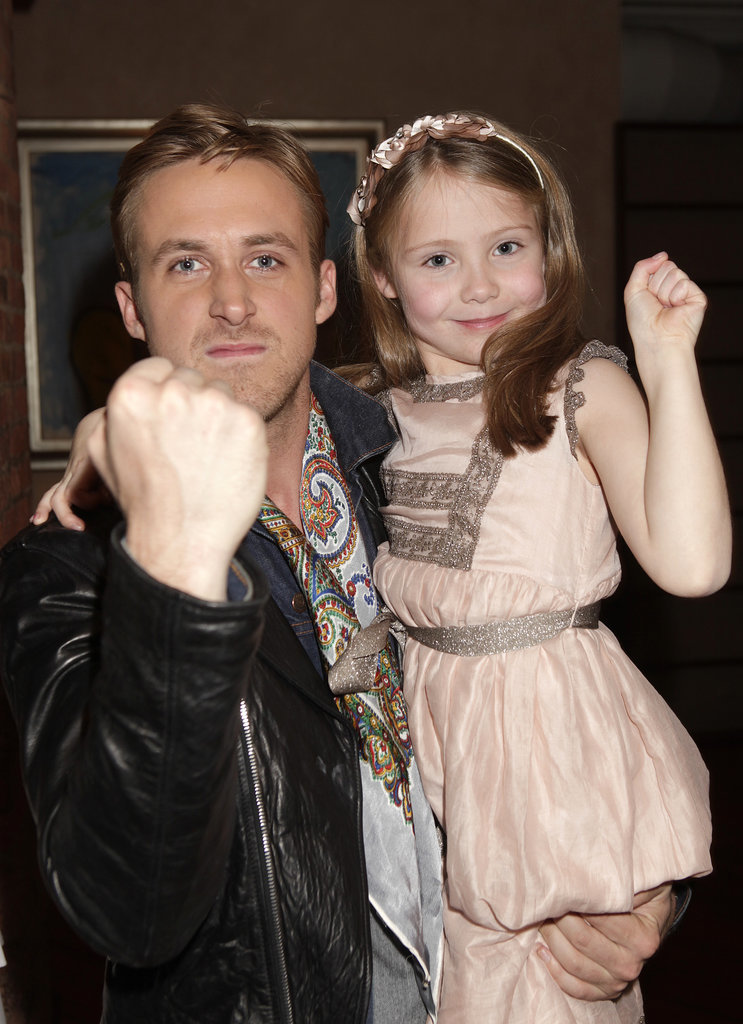 Ryan and Faith held up their fists for an adorable snap at a Blue Valentine screening in 2010.