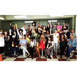The cast celebrated their big Emmy nominations while filming the new season! Source: Instagram user lomorelli