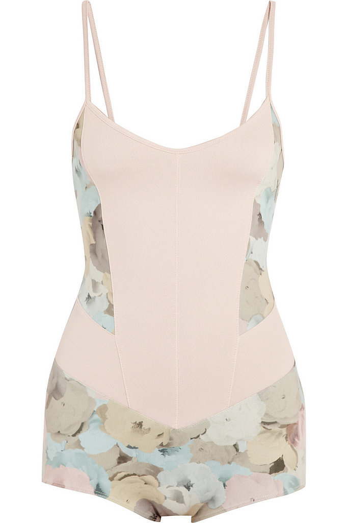 Live The Process floral-print stretch-jersey leotard ($225)