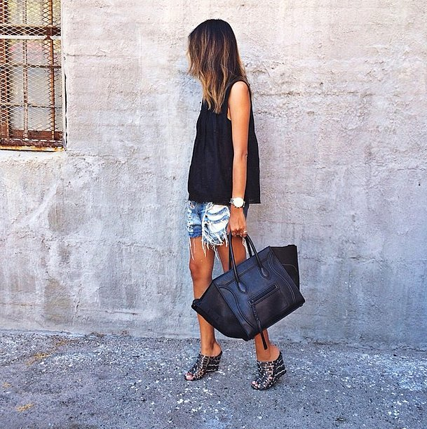 Of course, you could always just swing your leather in the form of an eye-catching shopper tote. Source: Instagram user sincerelyjules