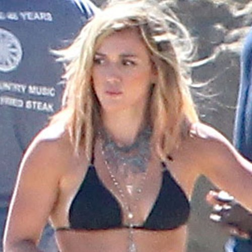 Hilary Duff Wears a Bikini During Music Video Shoot 2014