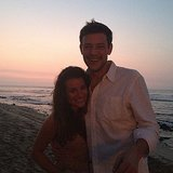 Lea shared a heart emoticon in the caption of her sunset picture with Cory.  Source: Instagram user msleamichele