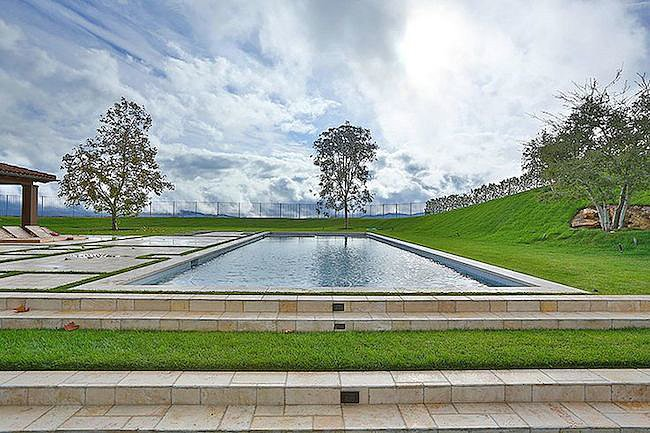 A large pool sits on the nearly two-acre lot.  Source: Trulia