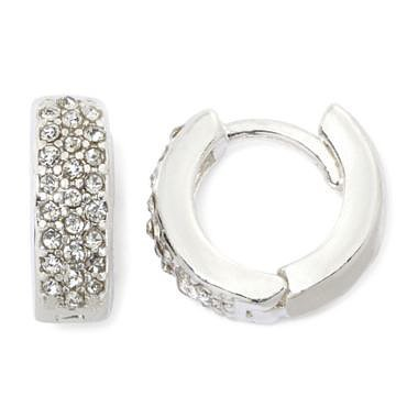 Vieste Pavé Crystal Cuff Earrings