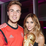 Pictures of Mario Götze Ann-Kathrin Brömmel World Cup 2014