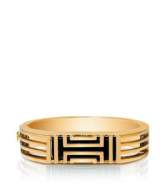 Tory Burch For Fitbit Metal Hinged Bracelet ($195)