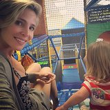 Elsa Pataky and her daughter, India Rose, went down a slide. Source: Instagram user elsapatakyconfidential