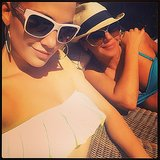 Jennifer Lopez and Leah Remini had fun in their bikinis. Source: Instagram user jlo