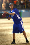 Josh showed off his football skills during the Celebrity Beach Bowl in February 2011.