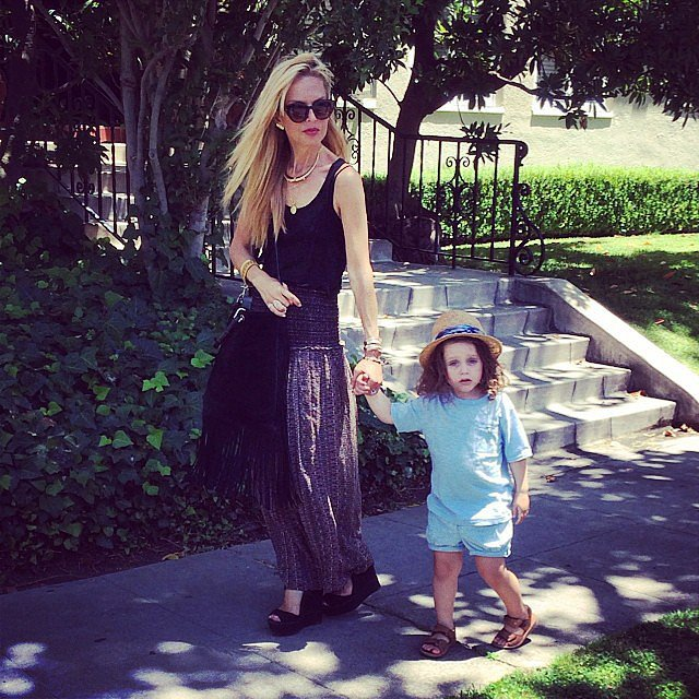 Skyler Berman and Rachel Zoe took a stroll around their neighborhood. Source: Instagram user rachelzoe