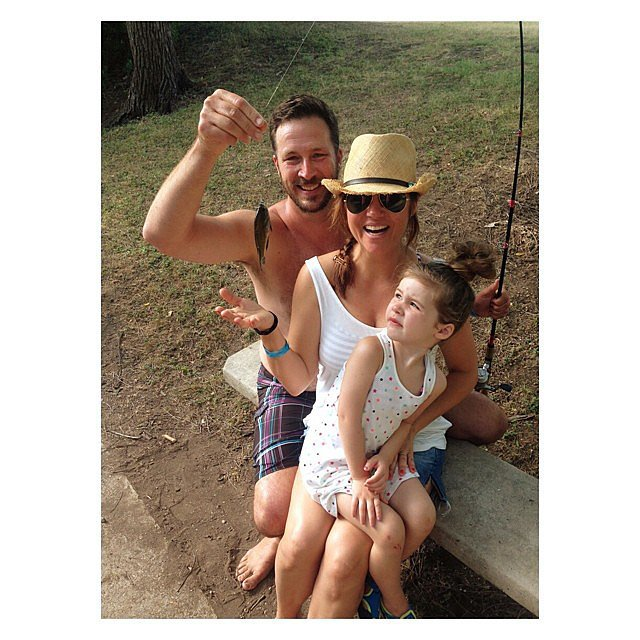 Harper Smith went fishing with her mom and dad while visiting Texas. Source: Instagram user tathiessen