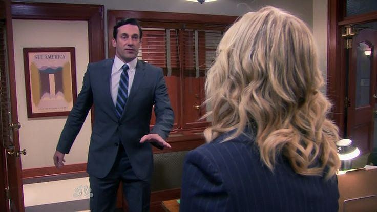 Best Yelling at Jon Hamm in a Time Jump: Amy Poehler, Parks and Recreation