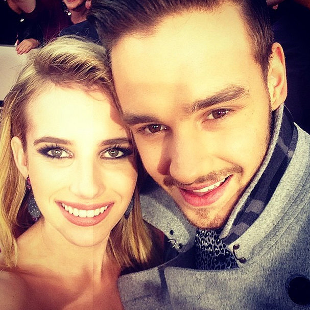 Emma Roberts and Liam Payne hit us with their picture-perfect looks in this adorable picture, which she took on the red carpet at the 2013 American Music Awards.