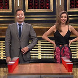 Video Of Miranda Kerr Playing Flip Cup With Jimmy Fallon