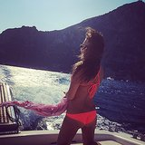 On Saturday, Lea showed off her bikini body during a boat ride. Source: Instagram user msleamichele