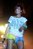 Lily Allen brought big smiles to the Latitude Festival in Southwold, England, on Friday.