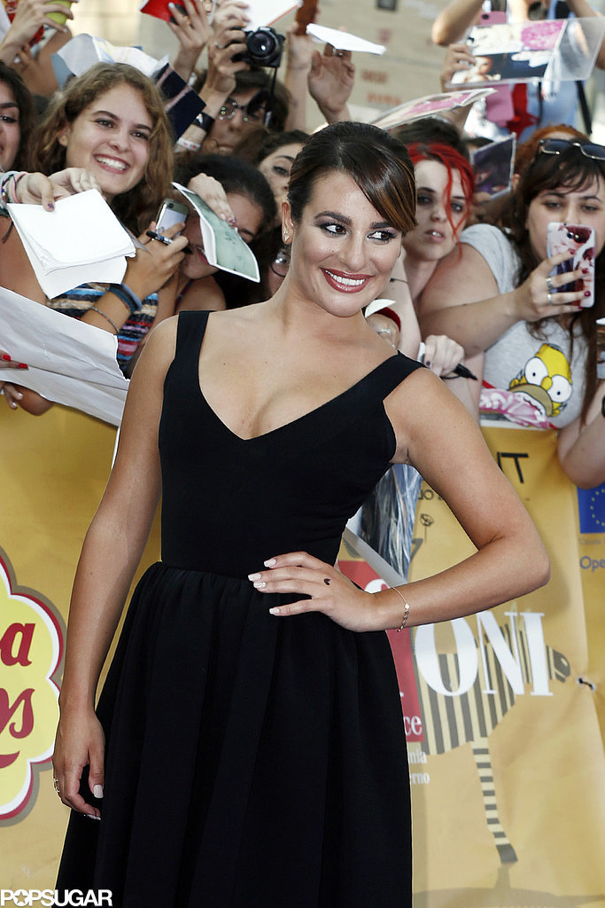 Lea Michele dazzled on the red carpet at the Giffoni Film Festival in Giffoni Valle Piana, Italy, on Sunday. The day before, the Glee actress shared hot PDA with her new boyfriend, Matthew Paetz.