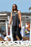 Jared Leto sported a thick beard in Saint-Tropez on Saturday.