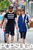 Andrew Garfield and Emma Stone held hands during their Saturday stroll in NYC.