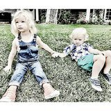 Maxwell held hands with her new pal. Source: Instagram user jessicasimpson
