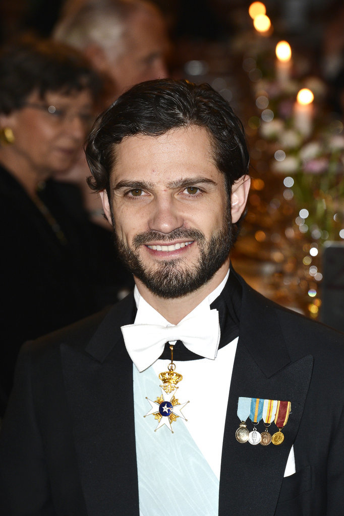 Prince Carl Philip suited up for the Nobel Prize Banquet in December 2013.