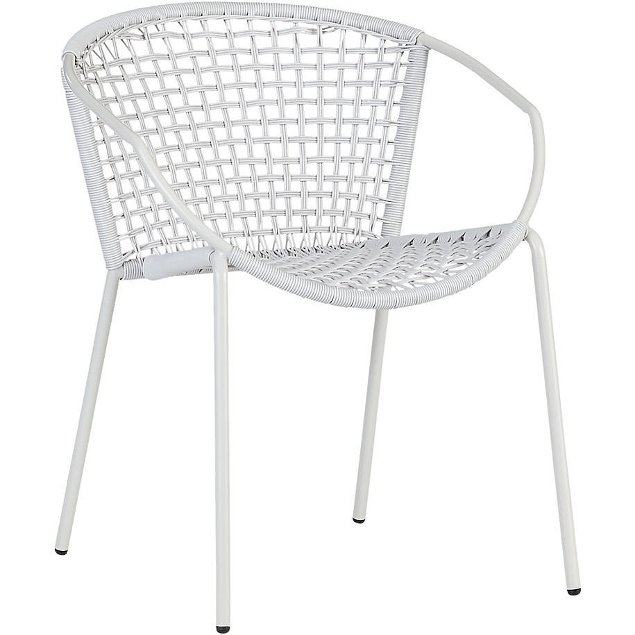 While this white armchair ($100) works outdoors, it would also look incredible in a modern-themed living room.
