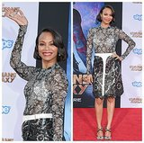 Photos: Zoe Saldana makes a belted baby bump debut?