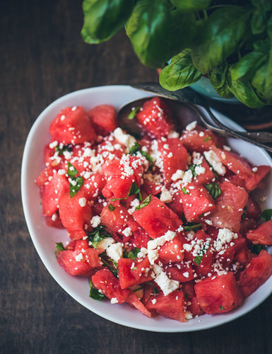 Watermelon, Basil & Feta Salad