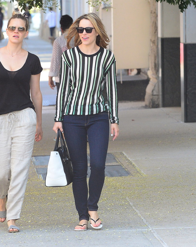 Rachel McAdams smiled out in NYC on Tuesday.