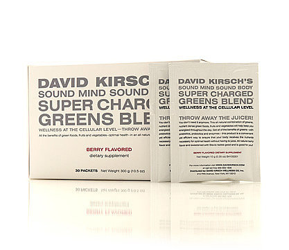 David Kirsch Wellness Super Charged Greens Blend and Thermo Bubbles