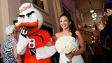 It's Time To Cry: Bride's Favorite Mascot Walks Her Down The Aisle After She Loses Her Father