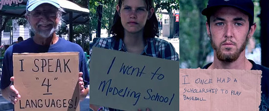 Homeless People Touchingly Share Their Stories Via Cardboard Signs