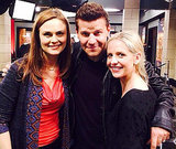 Sarah met up with David Boreanaz and his Bones costar Emily Deschanel in February 2014. Source: Twitter user RealSMG