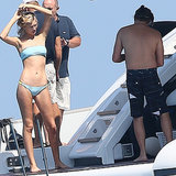 Leonardo DiCaprio Shirtless With Toni Garrn