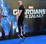 Vin Diesel cosplaying himself at UK premiere of Guardians Of The Galaxy
